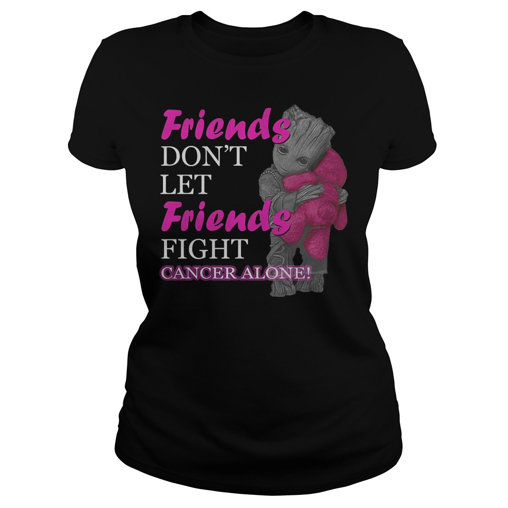 Groot Hug Teddy Friends Don't Let Friends Fight Cancer Alone Ladies