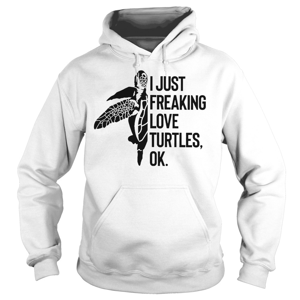 I Just Freaking Love Turtles Ok Hoodie