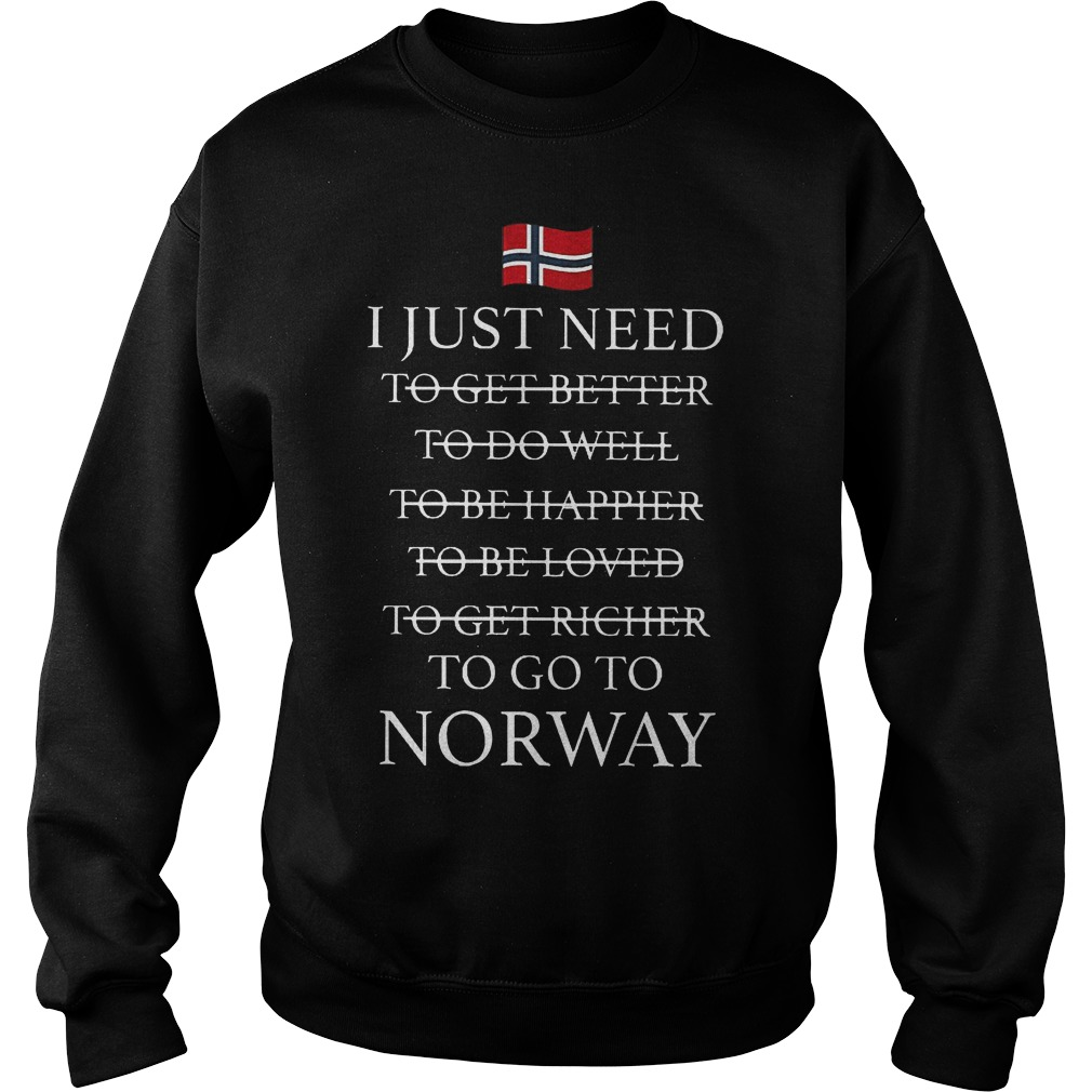 I Just Need To Go To Norway Sweater