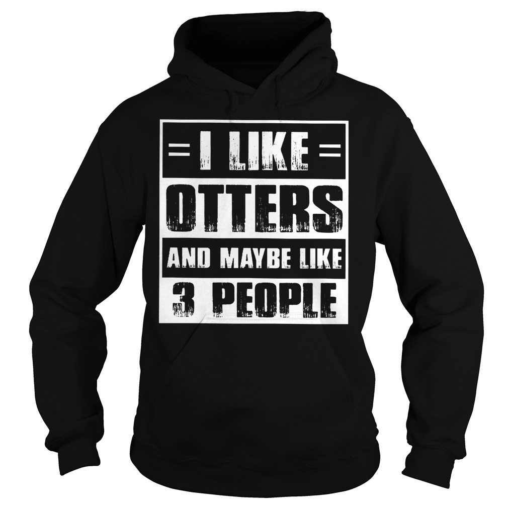 I Like Otters And Maybe Like 3 People Hoodie
