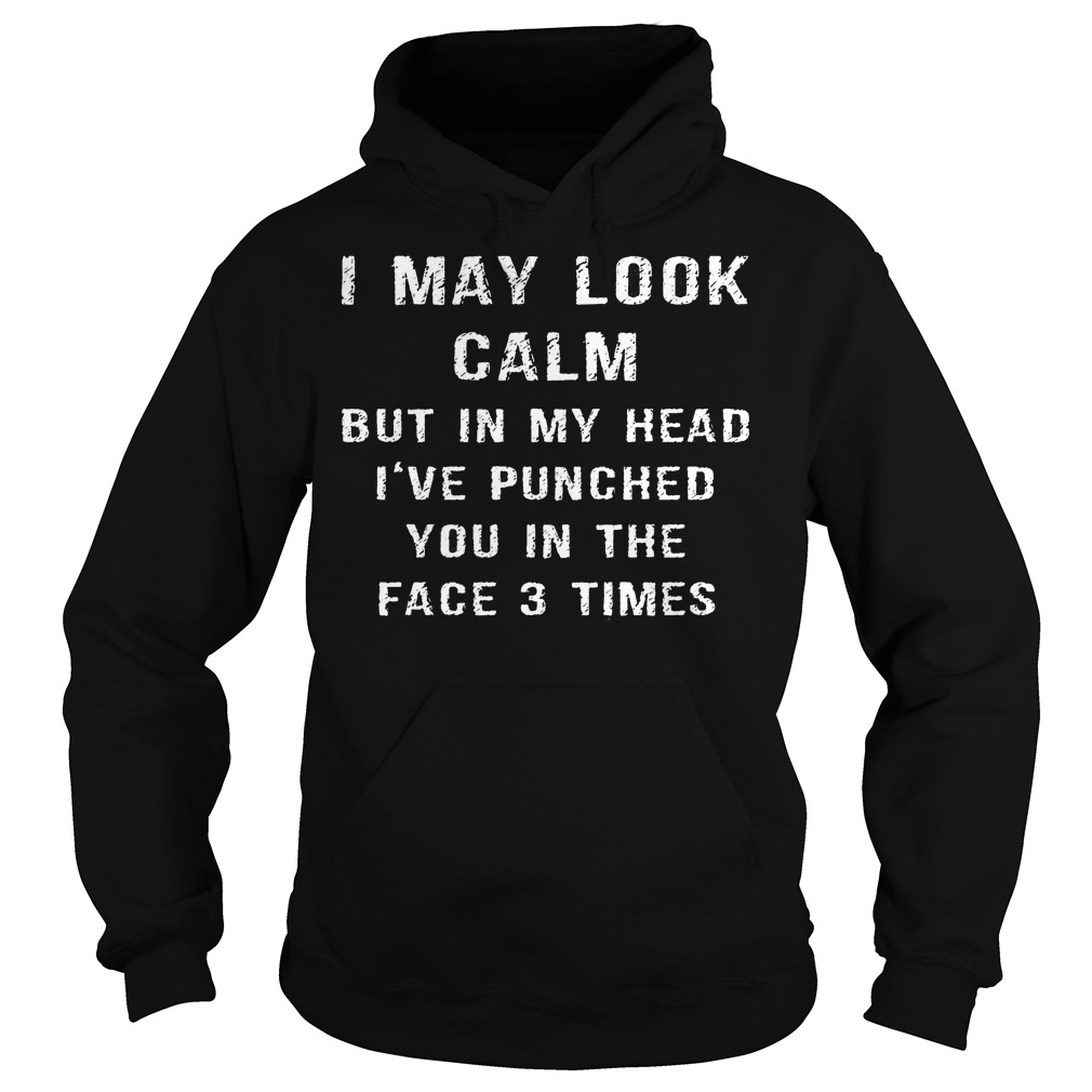 I May Look Calm But In My Head Ive Punched You In The Face 3 Times Hoodie