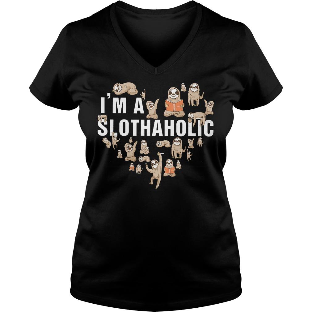 I'm A Slothaholic V Neck
