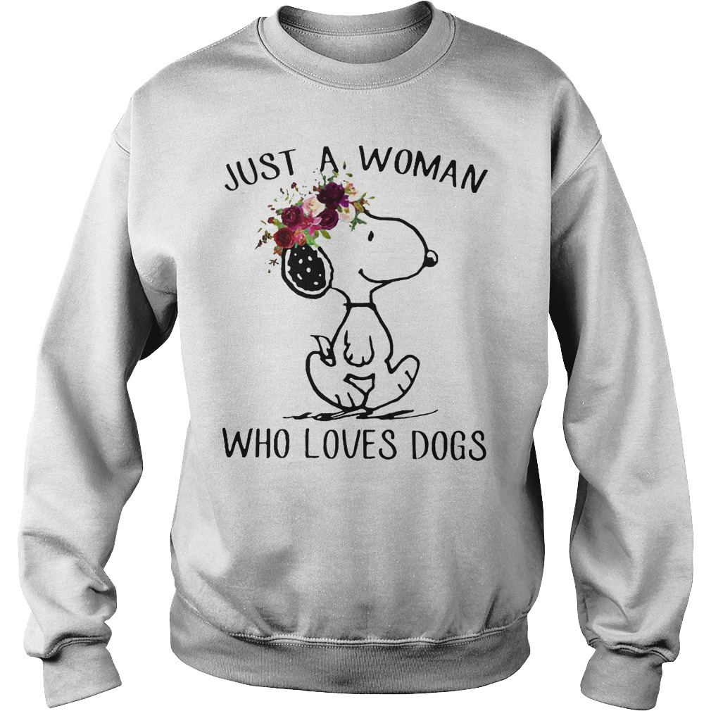 Just A Woman Who Loves Snoopy Dogs Sweater