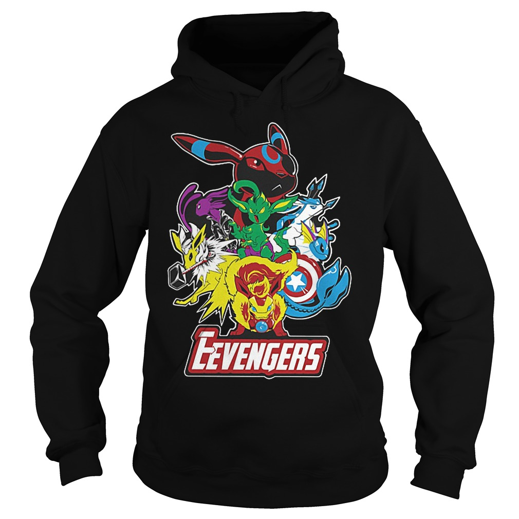 Look Out Villains Eevengers Cartoon Hoodie
