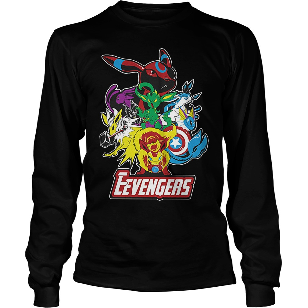 Look Out Villains Eevengers Cartoon Longsleeve