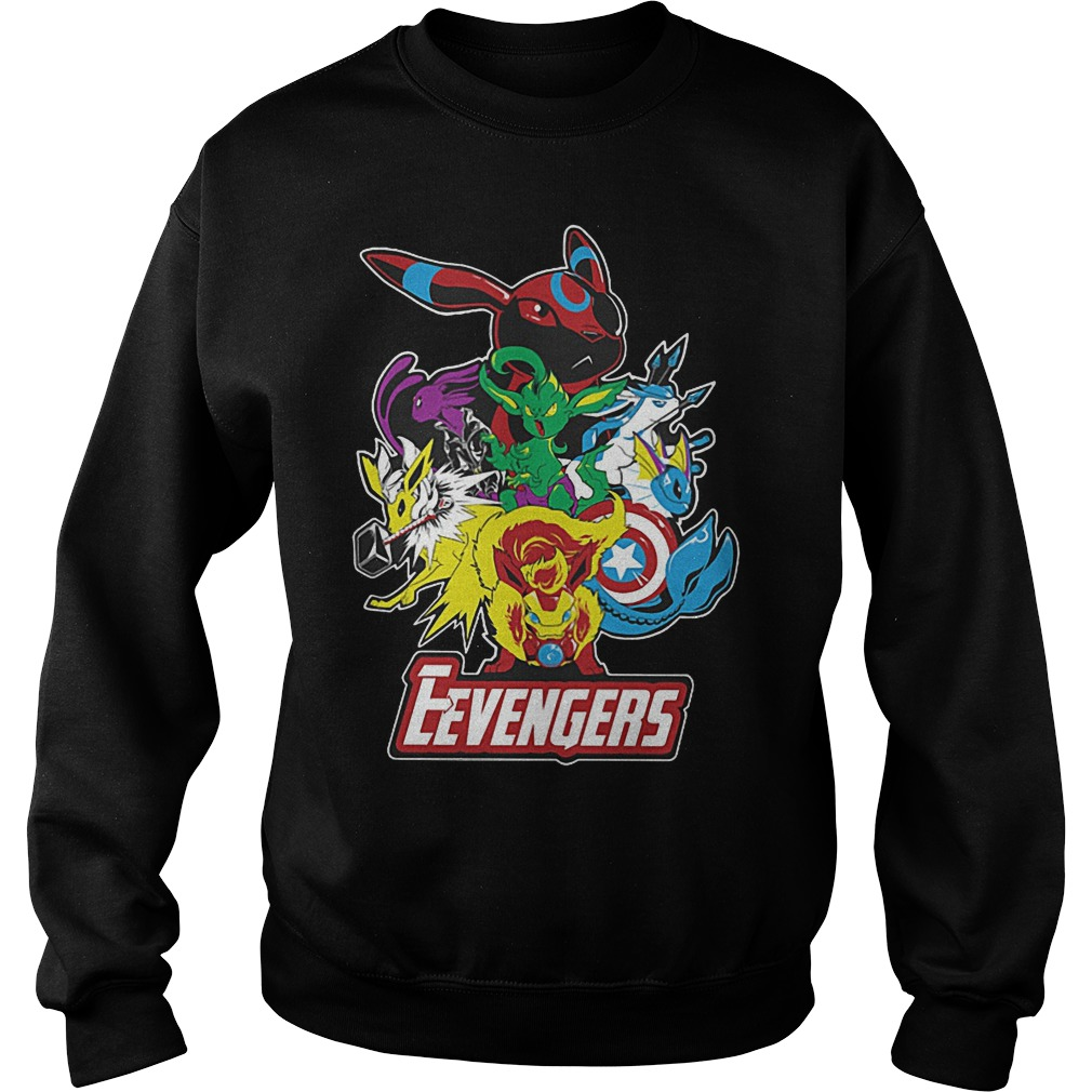 Look Out Villains Eevengers Cartoon Sweater