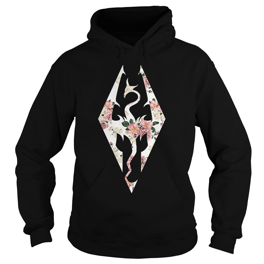 Skyrim Imperial Logo Rose Hoodie