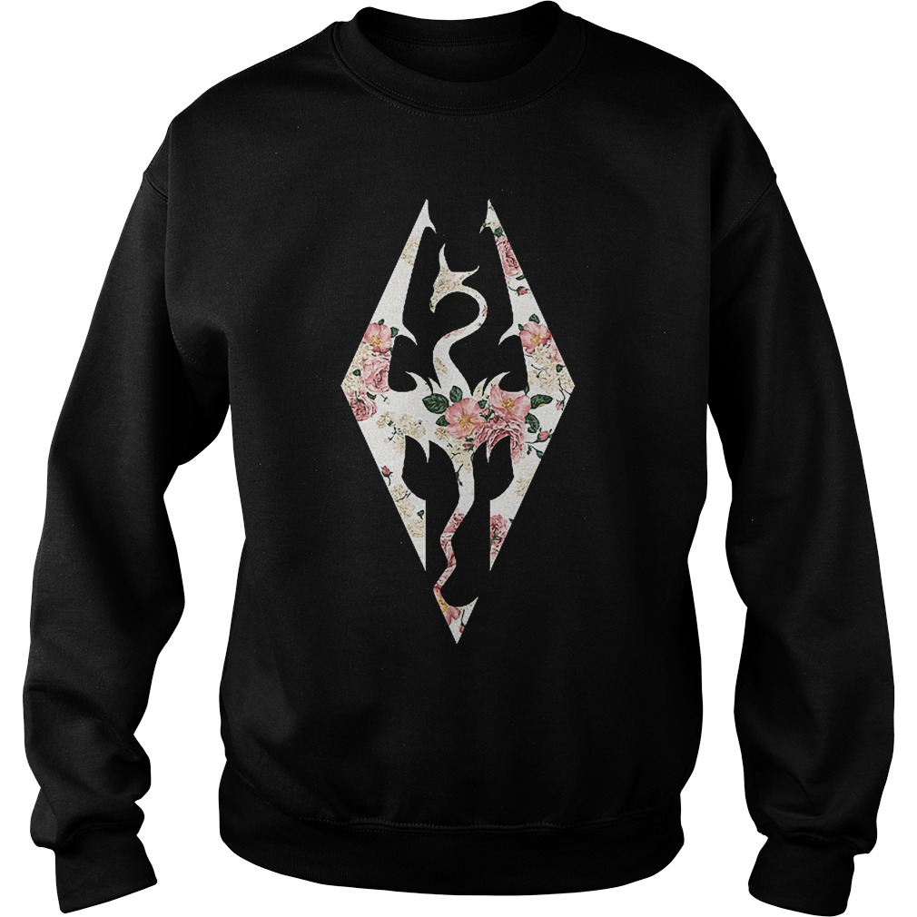 Skyrim Imperial Logo Rose Sweater