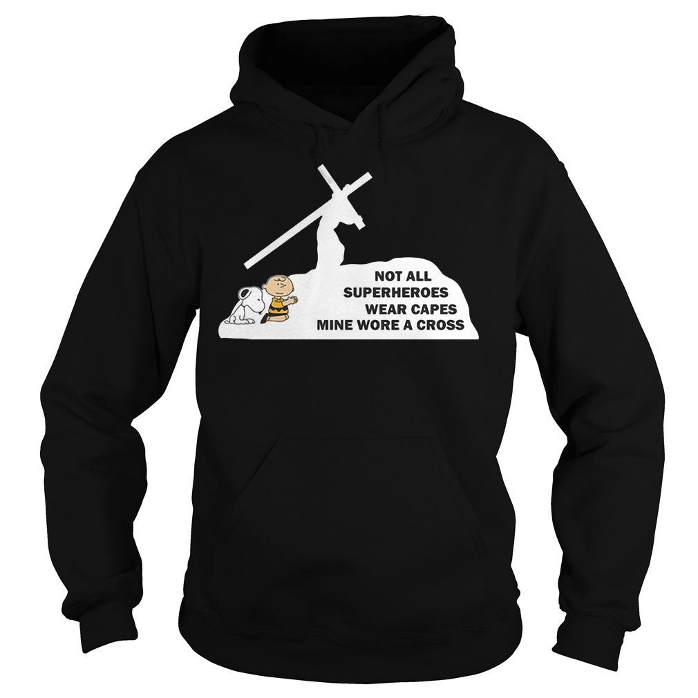 Snoopy Not All Superheroes Wear Capes Hoodie