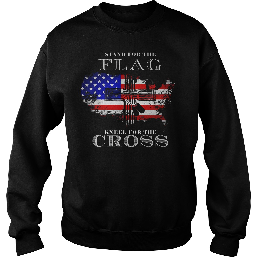 Stand For The Flag American Kneel For The Cross Sweater