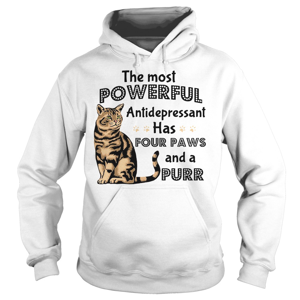 The Most Powerful Antidepressant Has Four Paws Hoodie