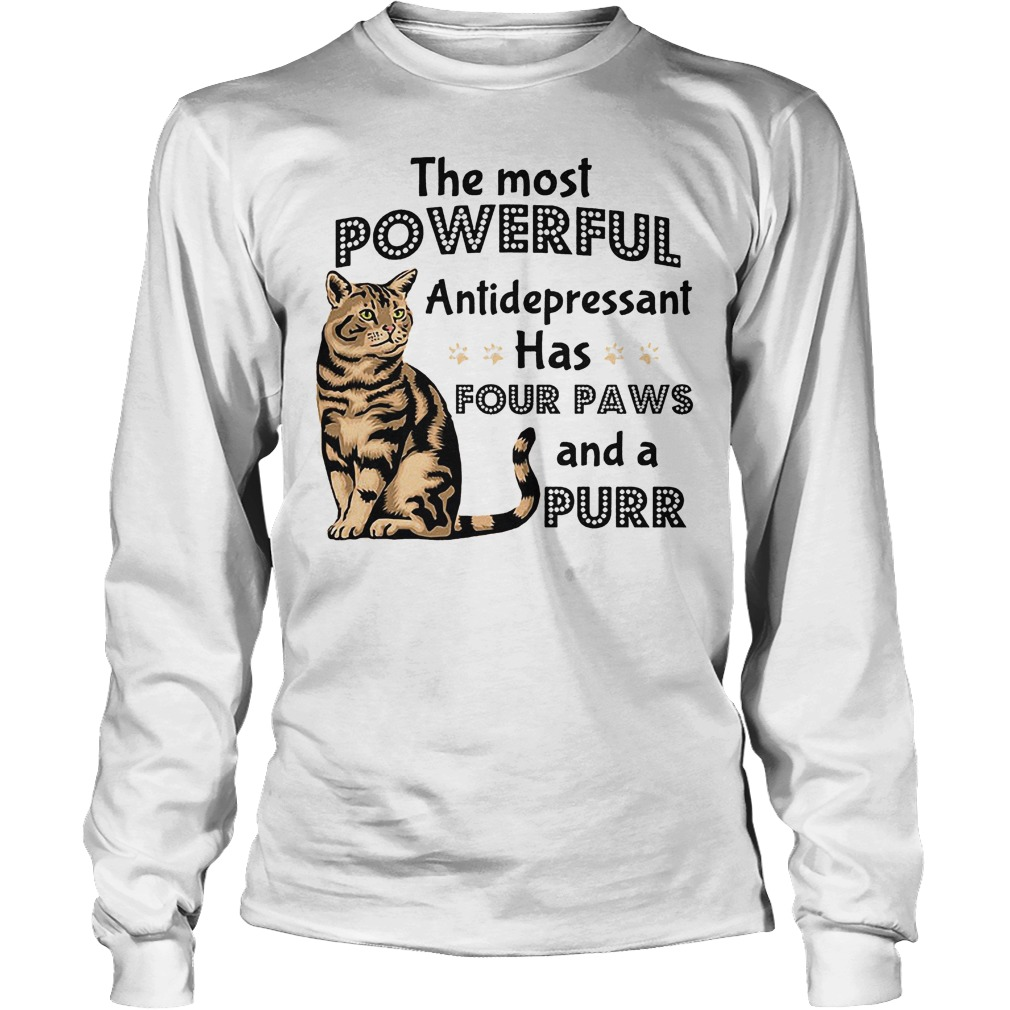The Most Powerful Antidepressant Has Four Paws Longsleeve