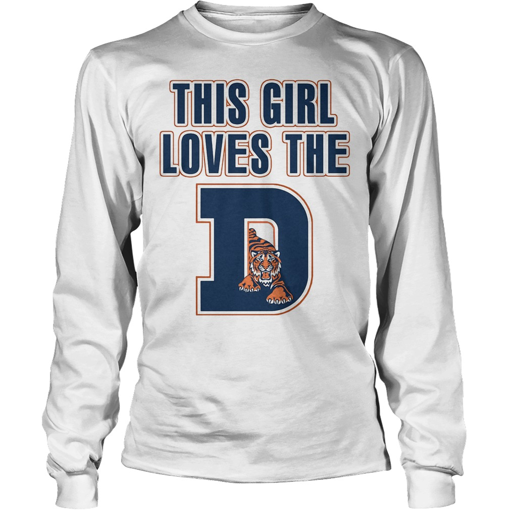 This Girl Loves The Detroit Tigers Longsleeve