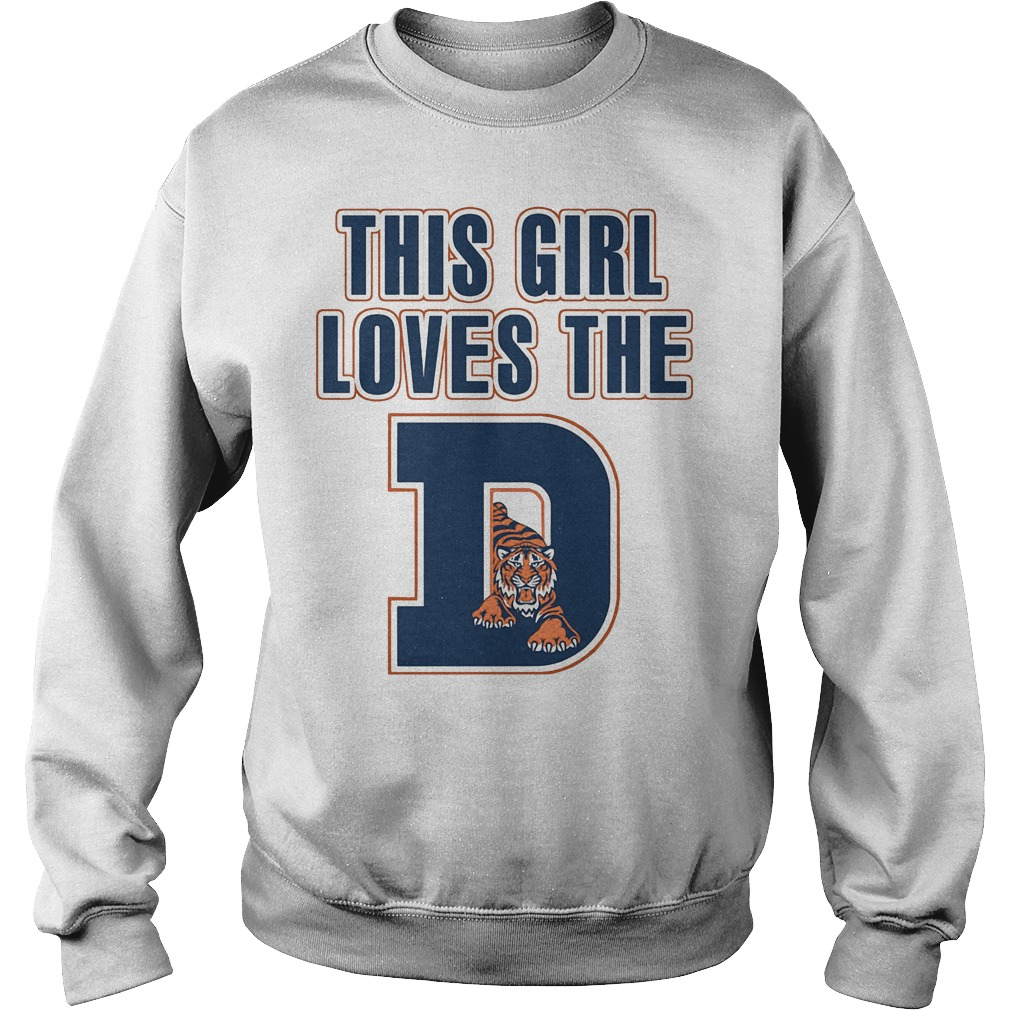 This Girl Loves The Detroit Tigers Sweater