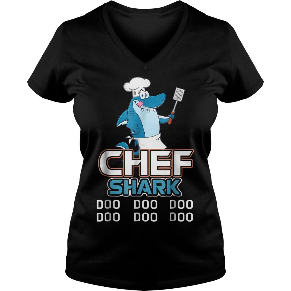 Chef Shark Doo Doo Doo V Neck
