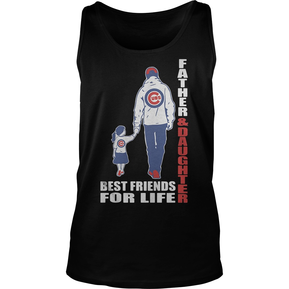 Chicago Cubs Father And Daughter Best Friends Tanktop