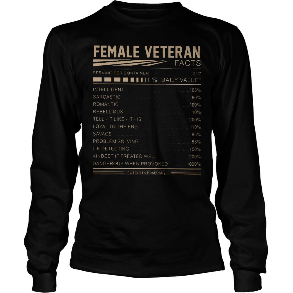 Female Veteran Daily Value Longsleeve