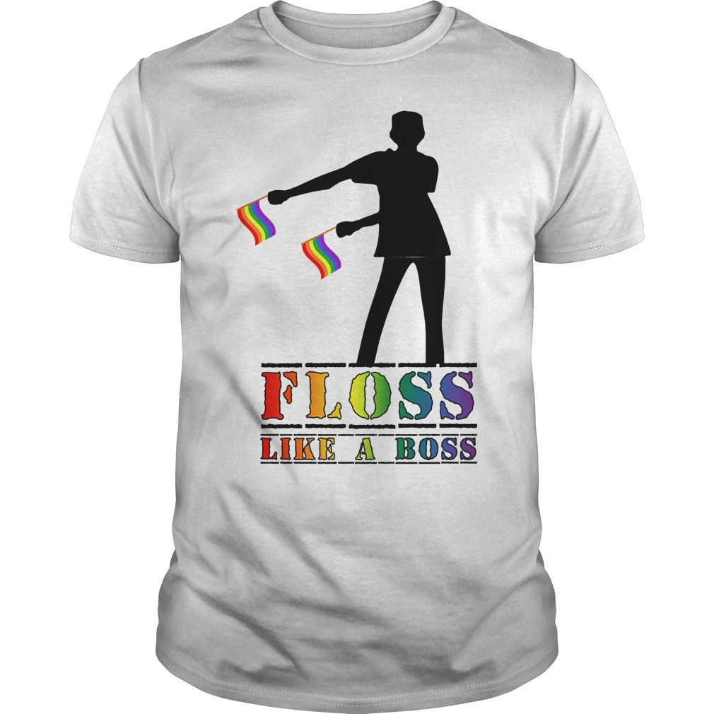 Floss Like A Boss Lgbt Flag T Shirt