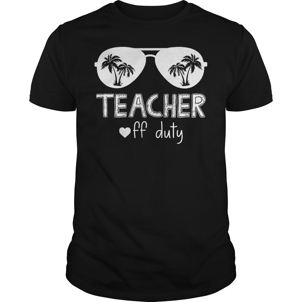 Glasses Teacher Off Duty T Shirt