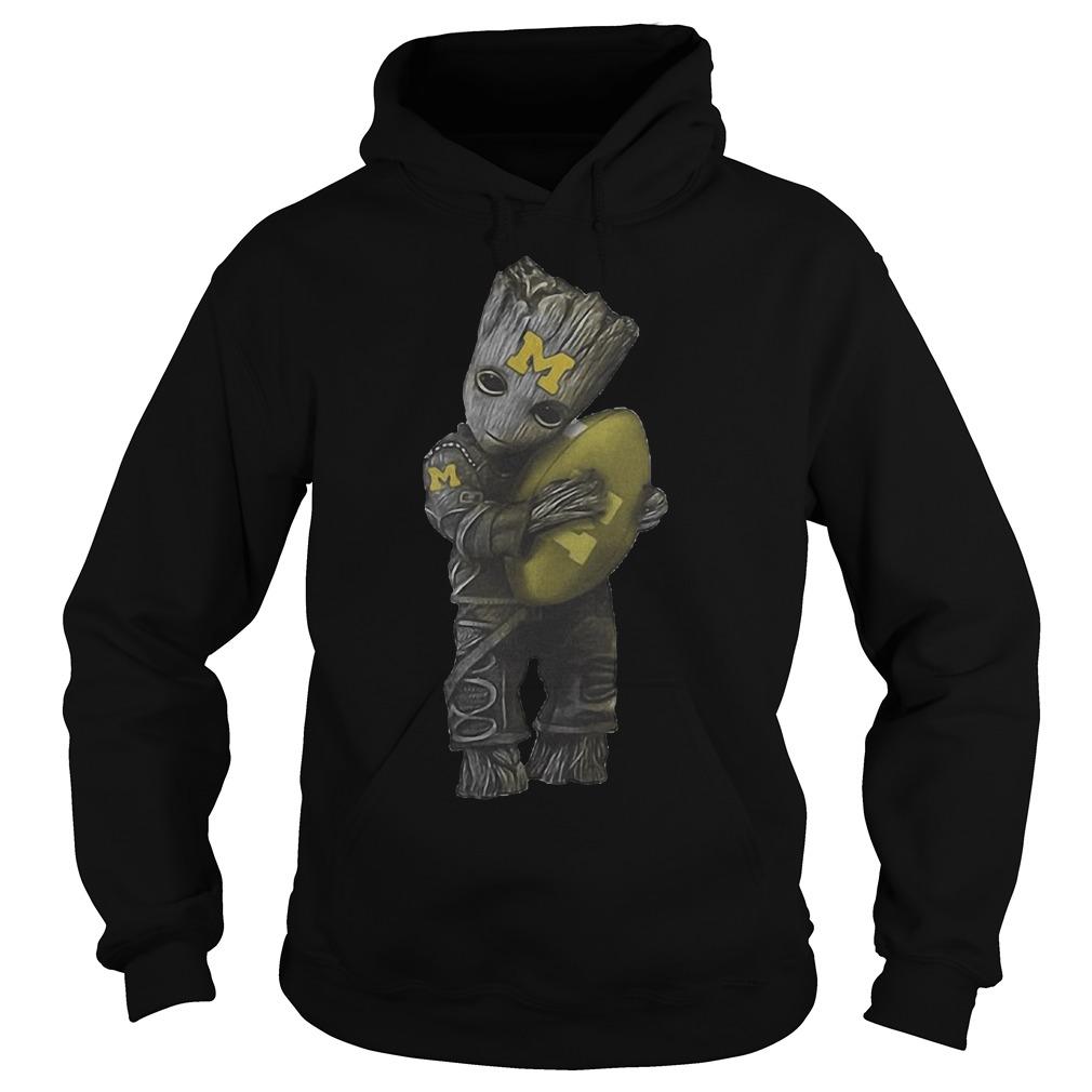 Groot Hug Michigan Wolverines Football Hoodie