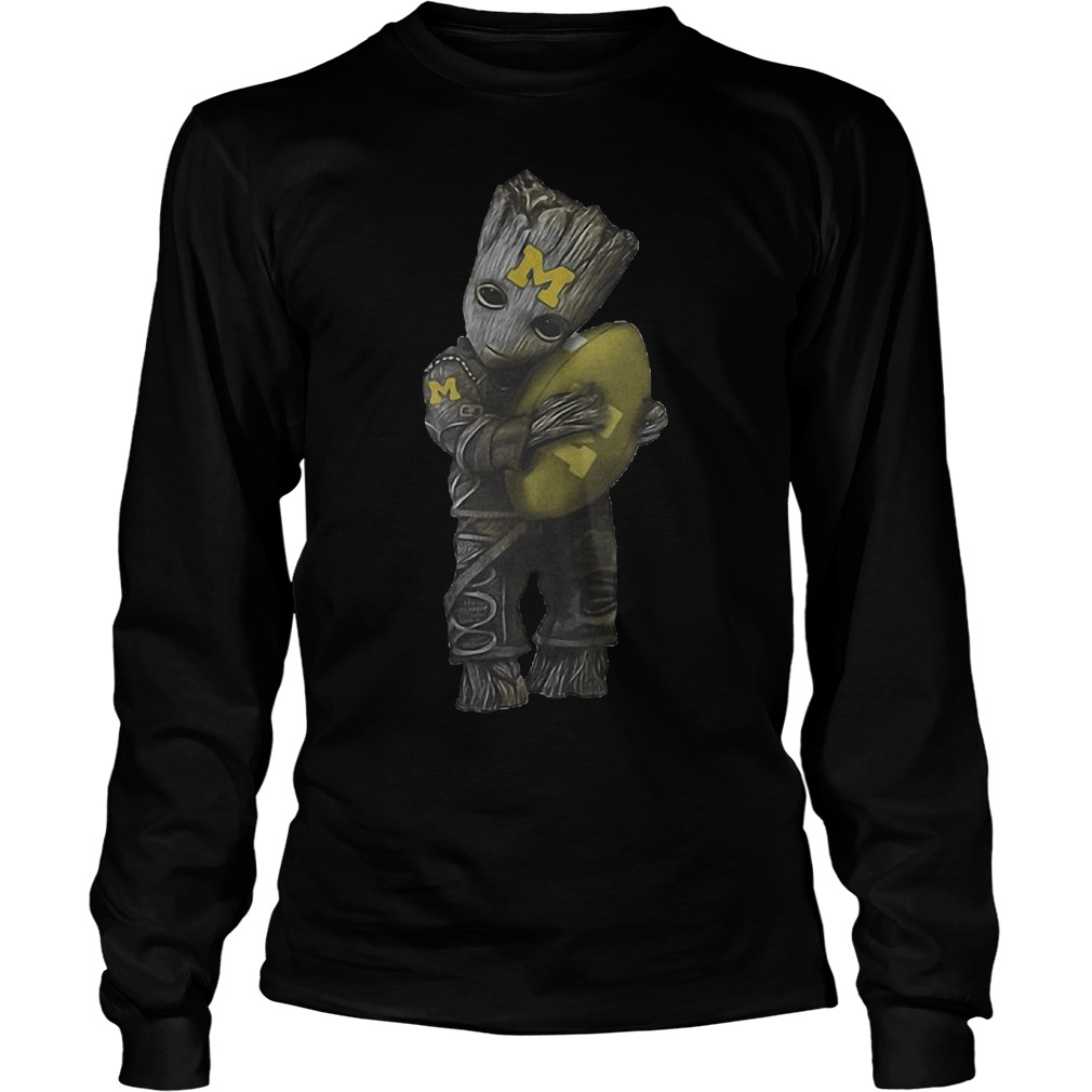 Groot Hug Michigan Wolverines Football Longsleeve