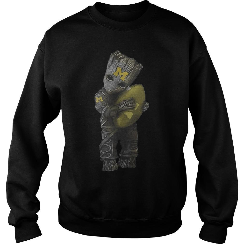 Groot Hug Michigan Wolverines Football Sweater