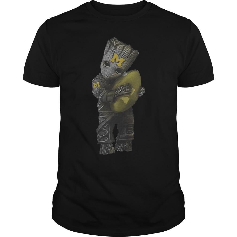 Groot Hug Michigan Wolverines Football T Shirt