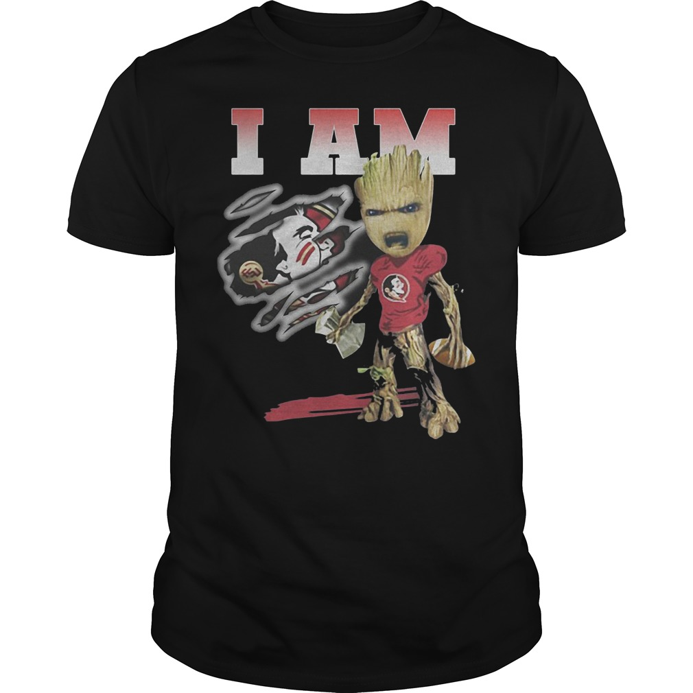 Groot I Am Florida State Seminoles Football T Shirt