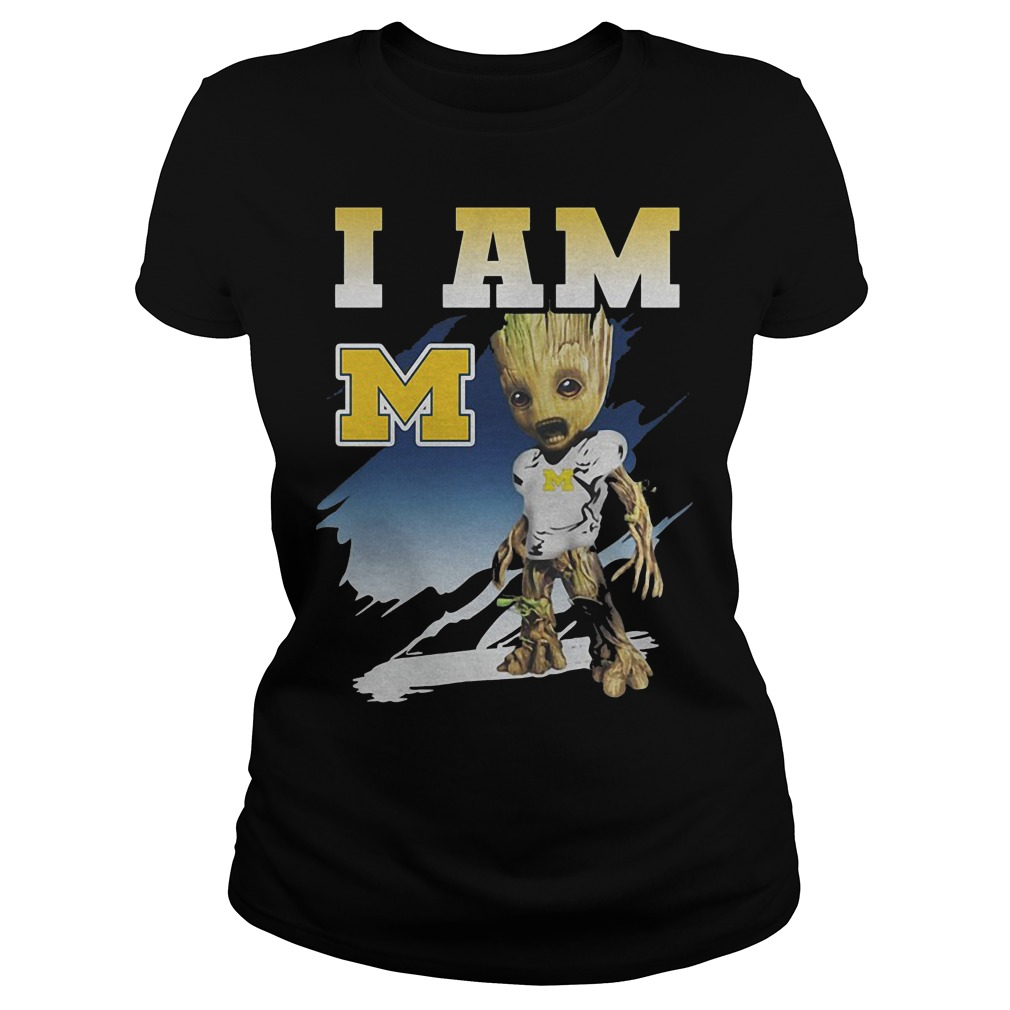Groot I Am Michigan Wolverines Ladies
