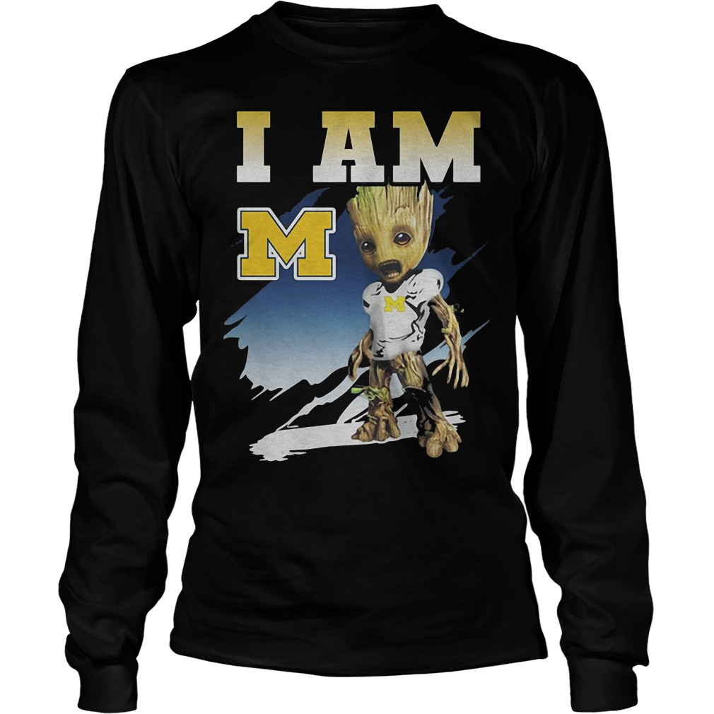 Groot I Am Michigan Wolverines Longsleeve