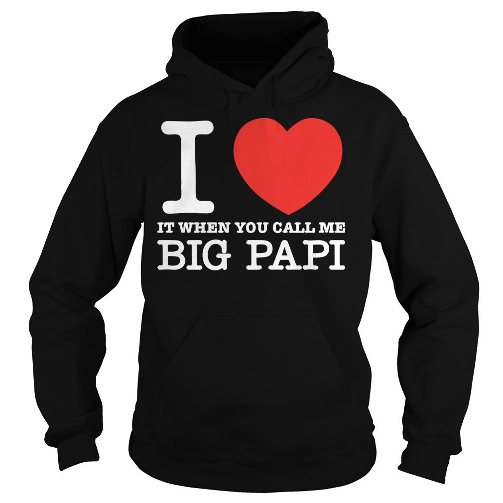 I Love It When You Call Me Big Papi Hoodie