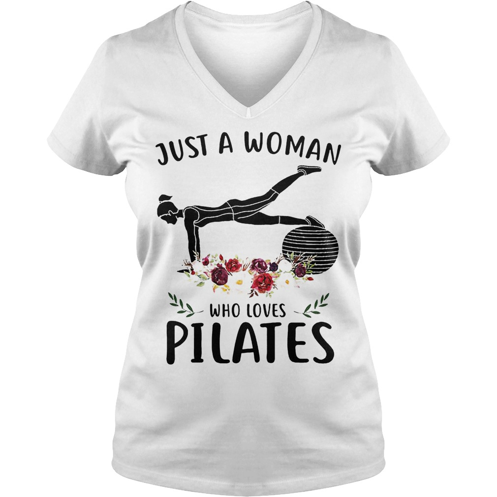 Just A Woman Who Loves Pilates V Neck