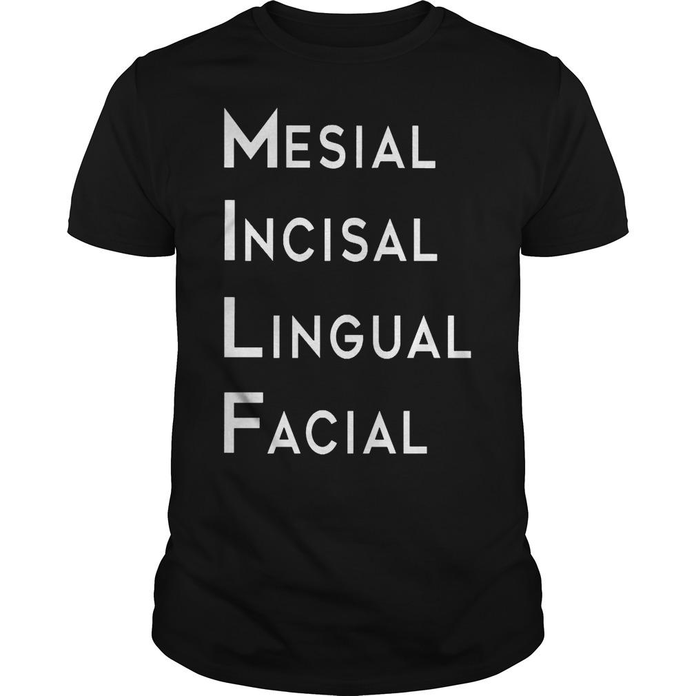 Mesial Incisal Lingual Facial Shirt
