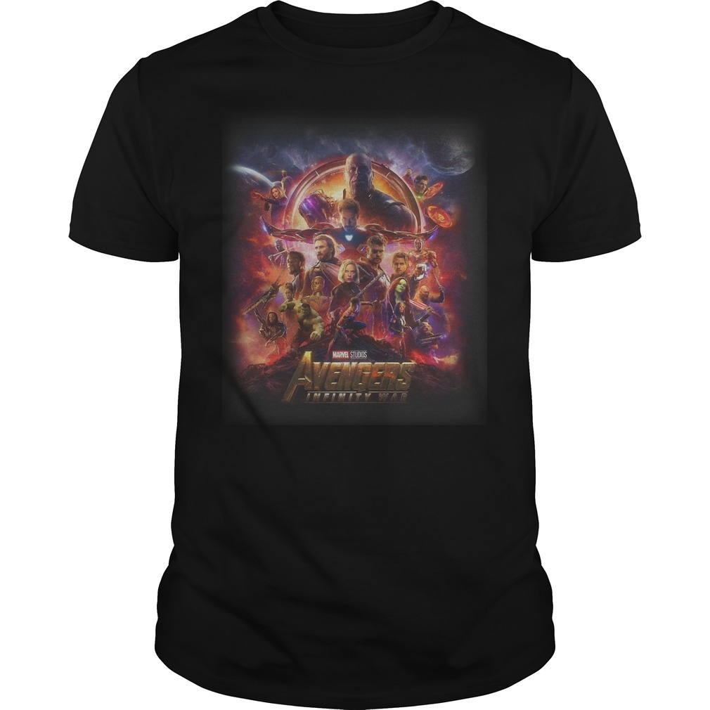Official Marvel Studios Avengers Infinity War T Shirt