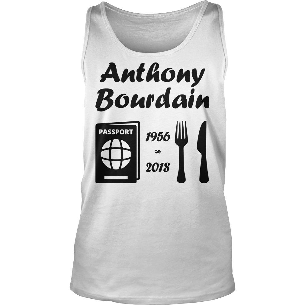 Rip Anthony Bourdain 1956 2018 Tanktop