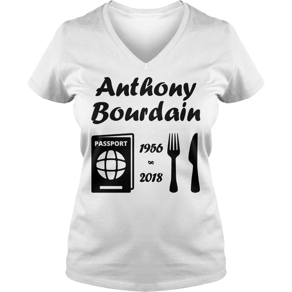 Rip Anthony Bourdain 1956 2018 V Neck