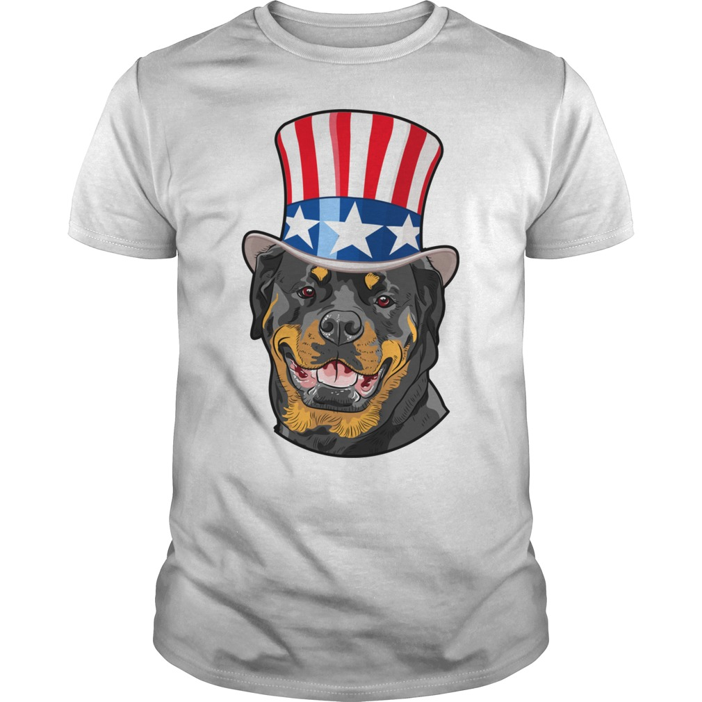 Rottweiler American Flag Hat 4th Of July Puppy T Shirt