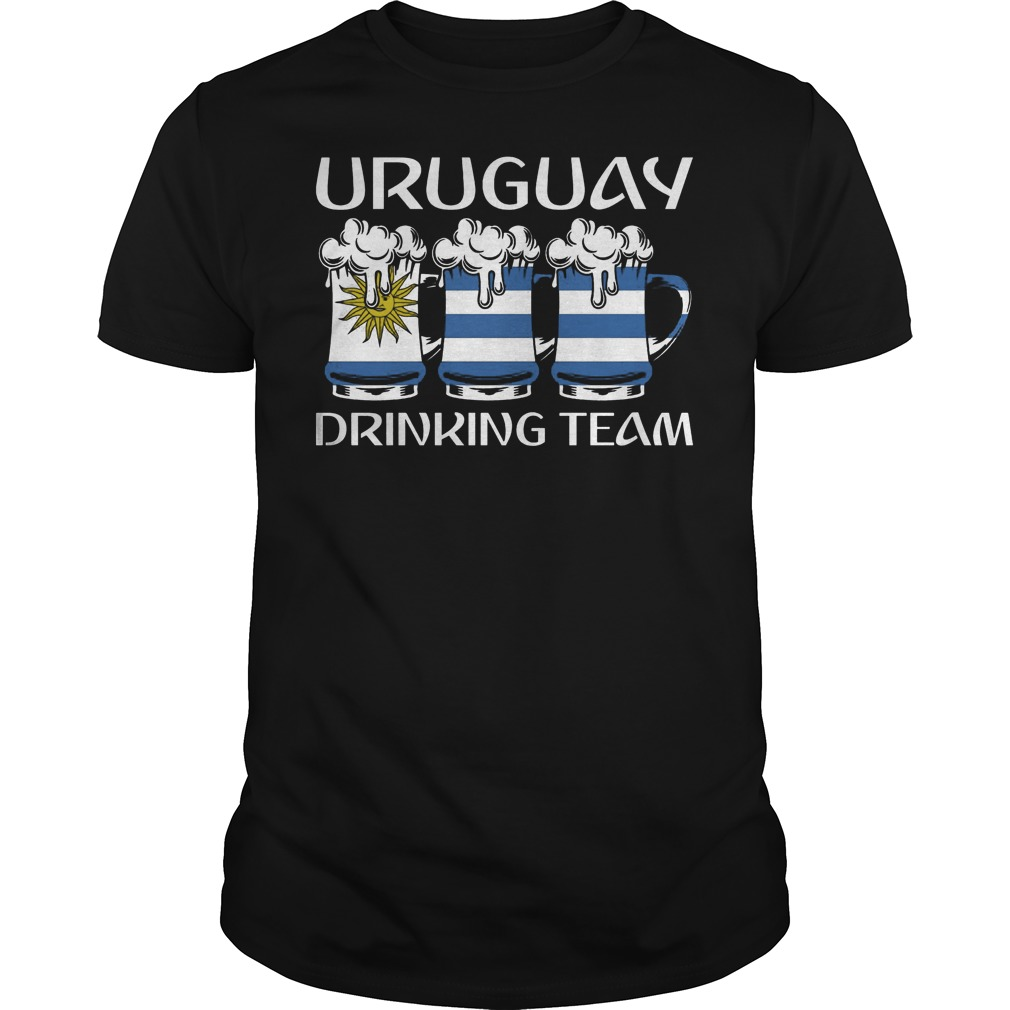 Uruguay Drinking Beer Team T Shirt