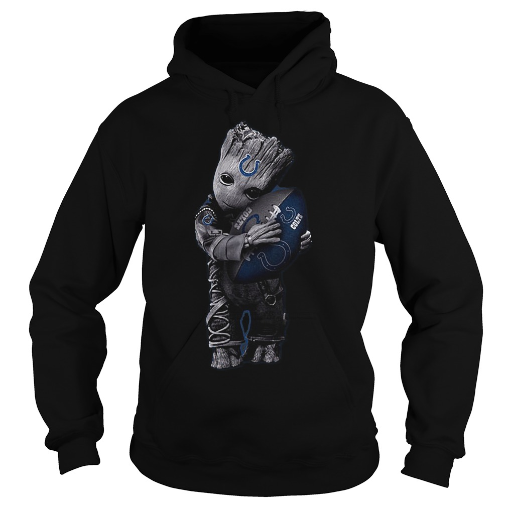 Baby Groot Hug Indianapolis Colts Football NFL T-Shirt Hoodie