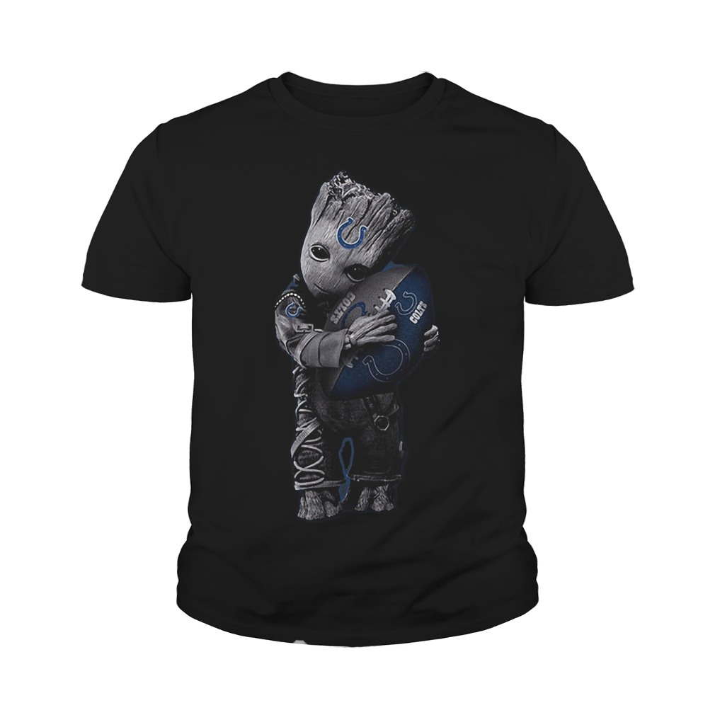 Baby Groot Hug Indianapolis Colts Football NFL T-Shirt Youth Tee