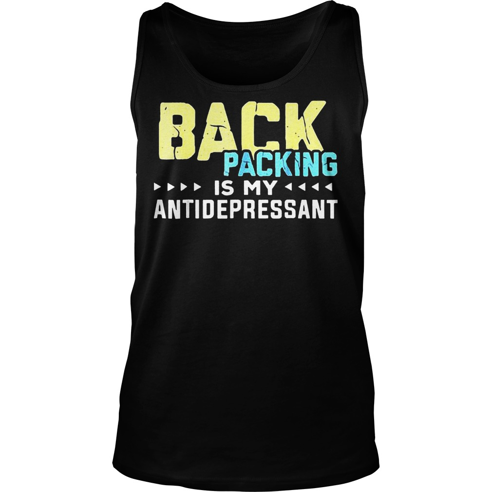 Backpacking Is My Antidepressant-Camping T-Shirt Unisex Tank Top