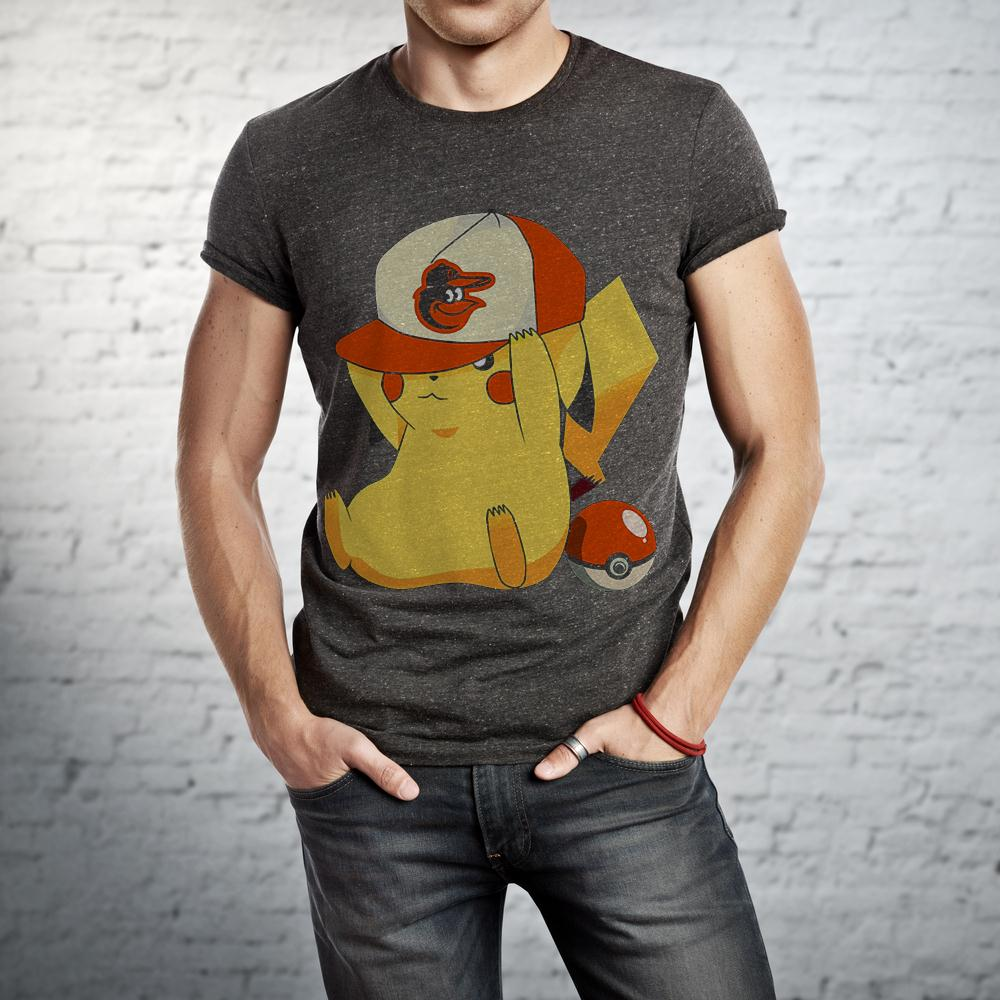 Baltimore Orioles Pikachu Pokemon T Shirt