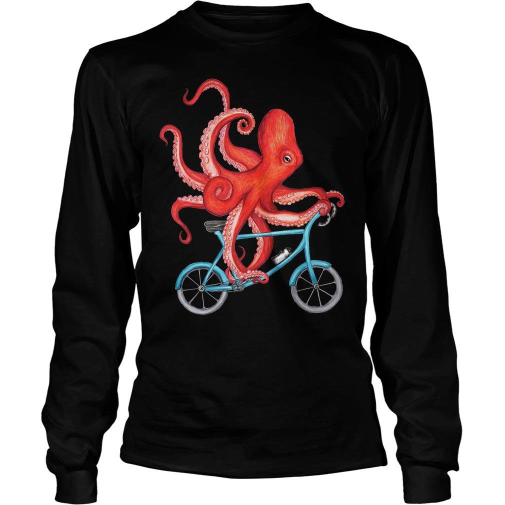 Best Price Cycling Octopus T-Shirt Longsleeve Tee Unisex