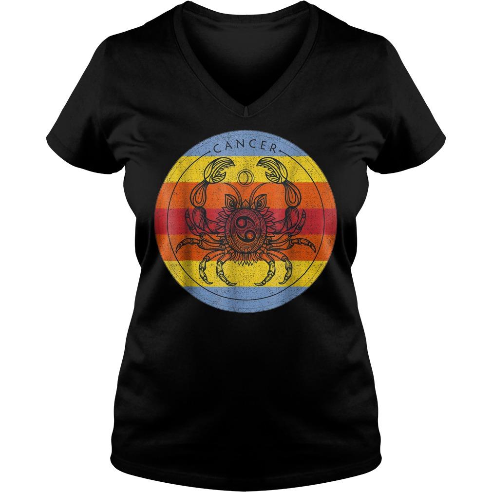 Cancer Zodiac Sign T-Shirt Ladies V-Neck
