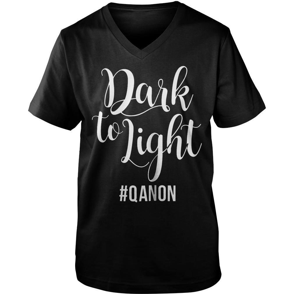 Dark To Light Qanon Guys V-Neck