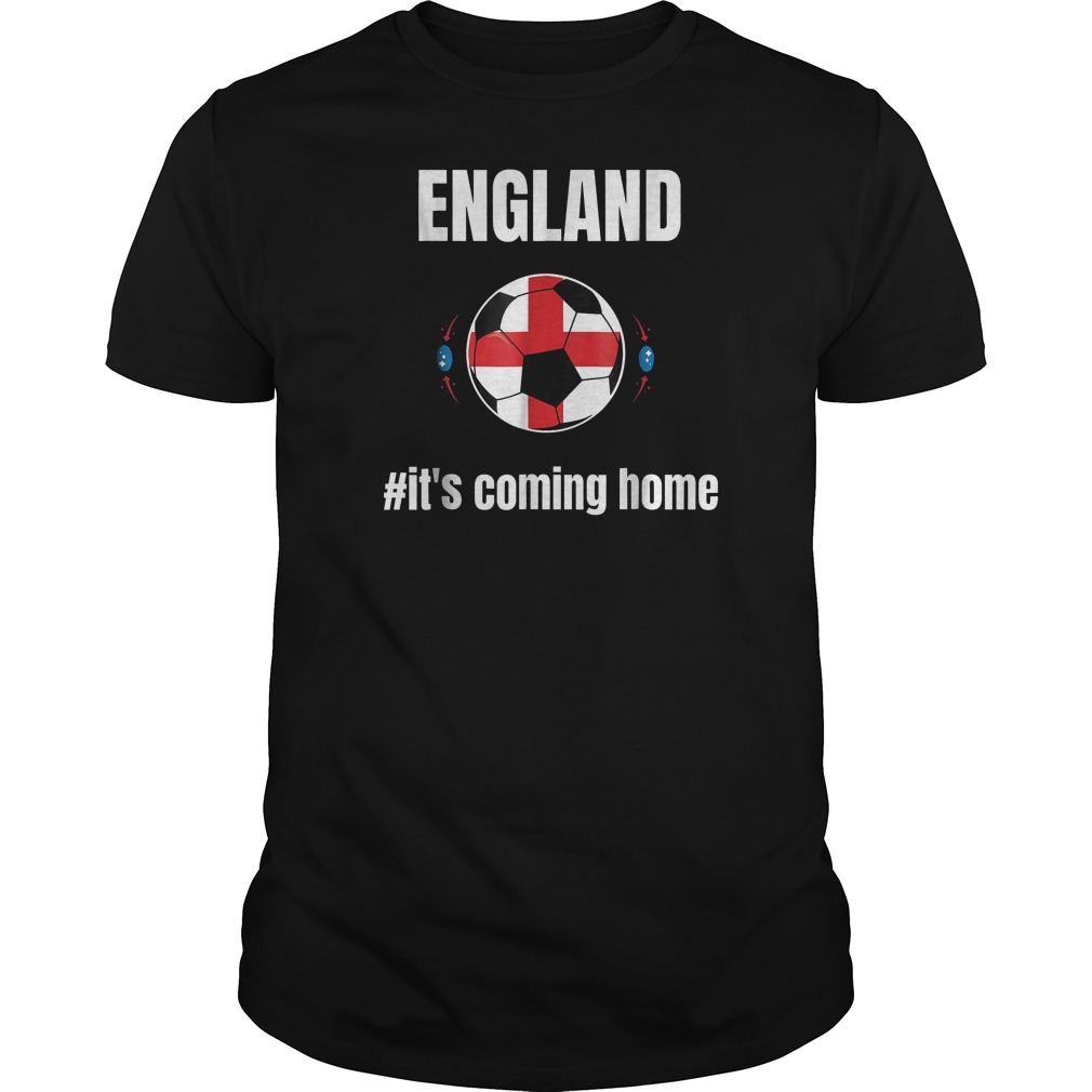 England Soccer It's Coming Home World Cup 2018 T-Shirt Guys Tee