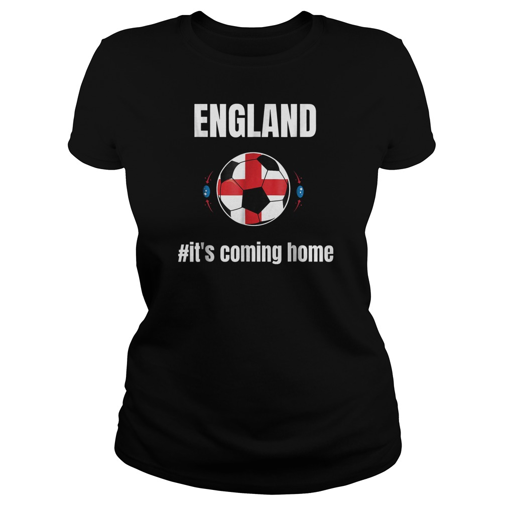England Soccer It's Coming Home World Cup 2018 T-Shirt Ladies Tee