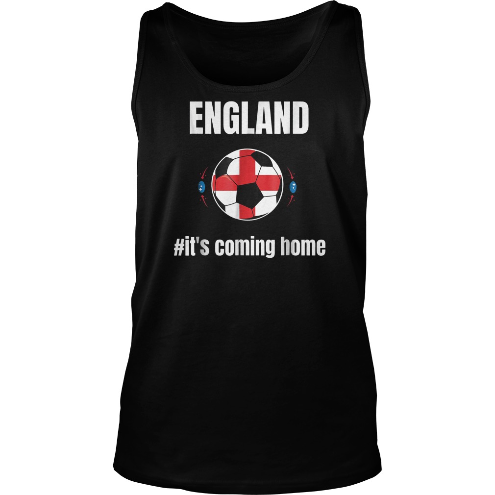 England Soccer It's Coming Home World Cup 2018 T-Shirt Unisex Tank Top