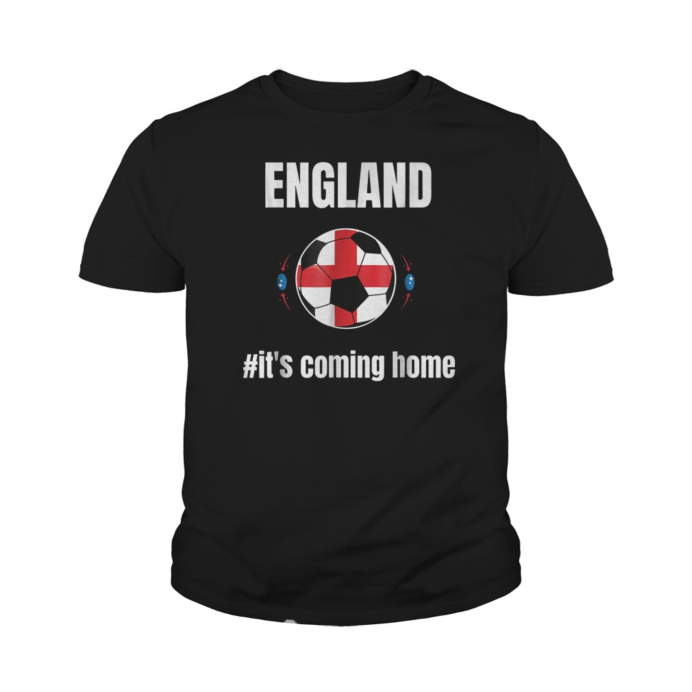 England Soccer It's Coming Home World Cup 2018 T-Shirt Youth Tee