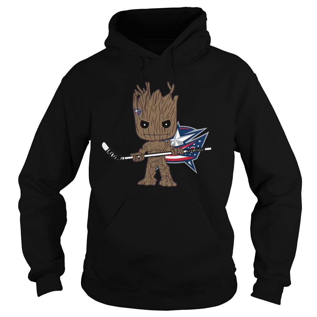 Groot I Am Ice Hockey Player Team Columbus Blue Jackets T-Shirt Hoodie